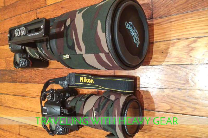 Traveling with heavy camera gear