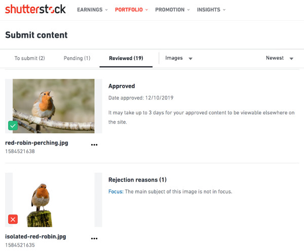 Selling photos on shutterstock