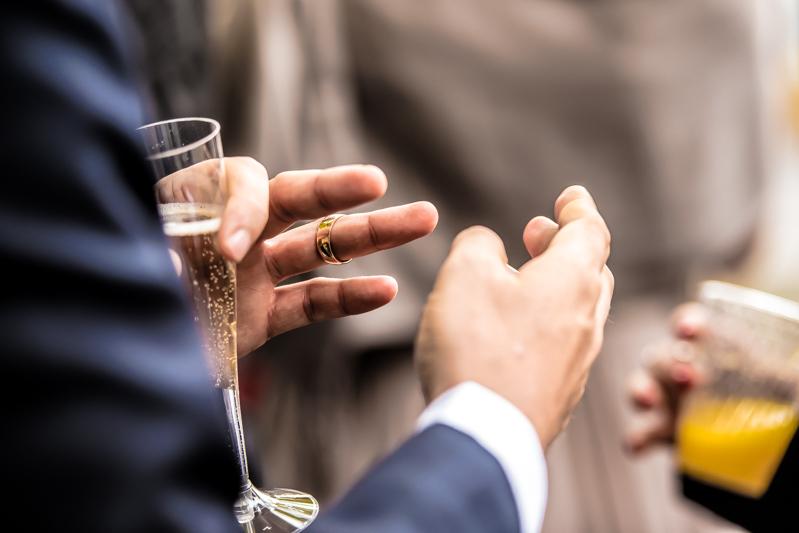 wedding ring on spot