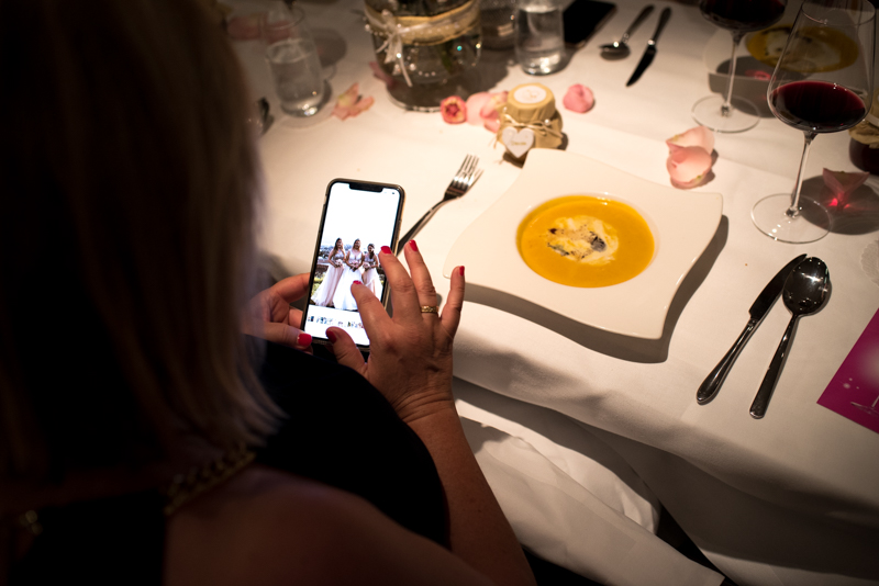 wedding through the phone